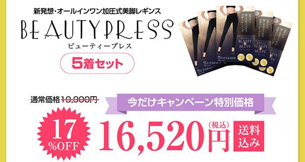 ビューティープレス5枚セット16,520円